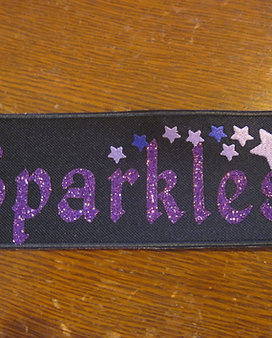 imprinted sparkle name patch