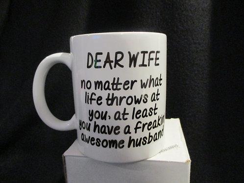 #905 Dear wife...awesome husband mug