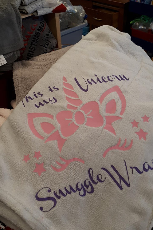 #3 This is my Unicorn Snuggle Wrap blanket
