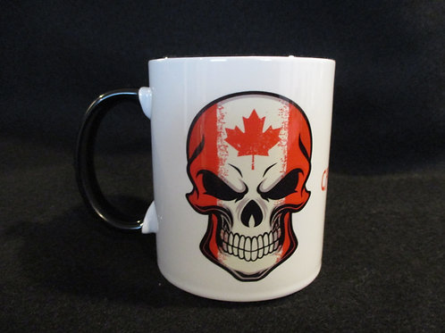 copy of #270 Proud Canadian Biker skull mug