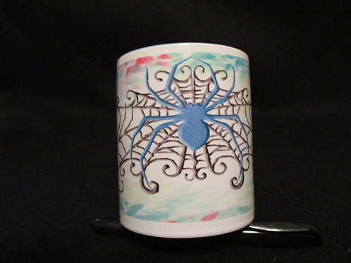 #109 spyder mug watercolor