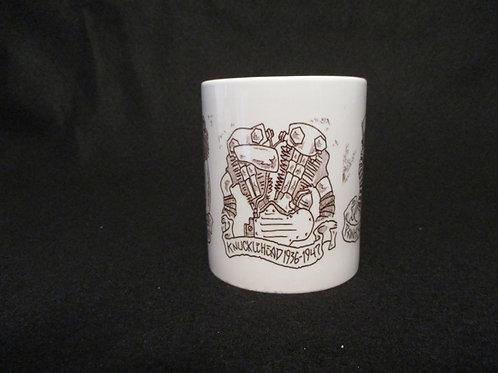 #126 Knucklehead engine mug