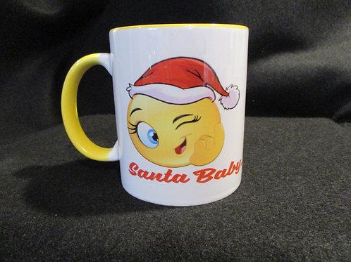 #45 Santa baby mug