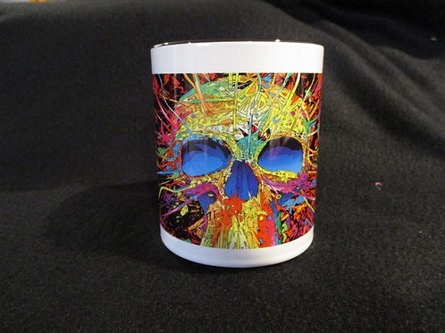 #282 skeleton water color mug