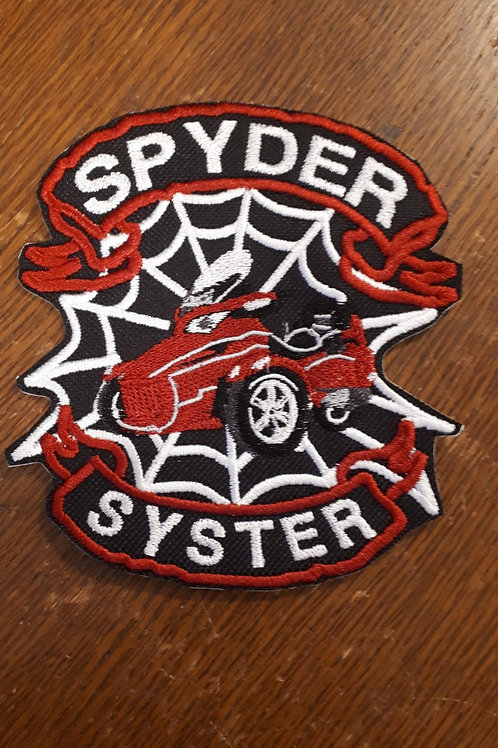 spyder syster web/banner patch  SMALL