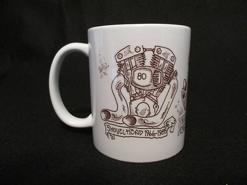 #129 twincam/blockhead/shevelhead engine mug