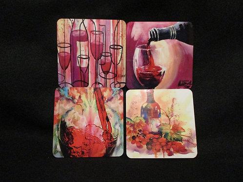 #154 wine themed coasters