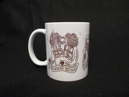 #128 knucklehead/panhead/flathead engine mug