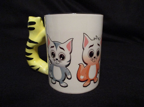 #37 kitty handle mug