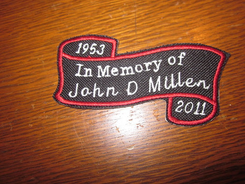 In Memory of... patch scroll