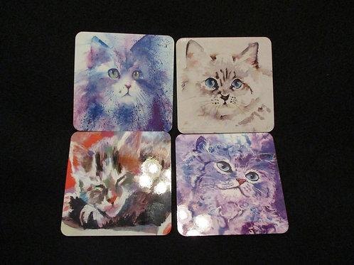 #153 Kitten themed coasters