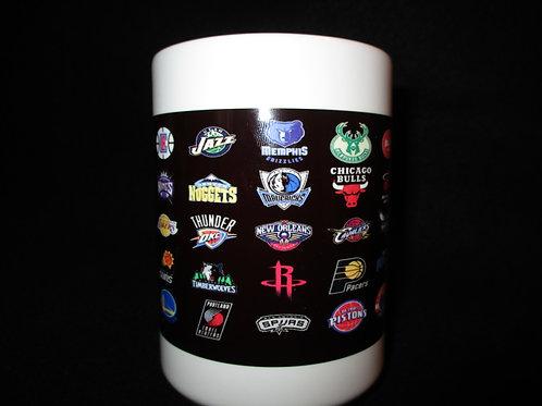 #632 Basketball logo mug