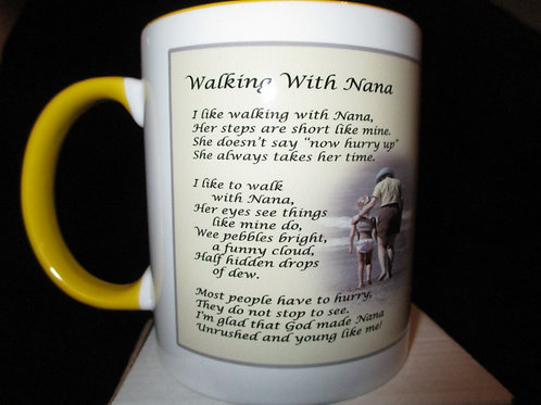 #600 Walking with nana mug