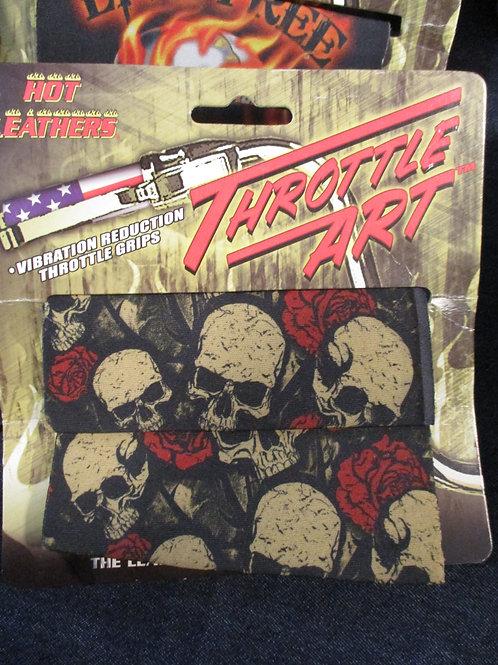 Throttle grip mini skulls and roses