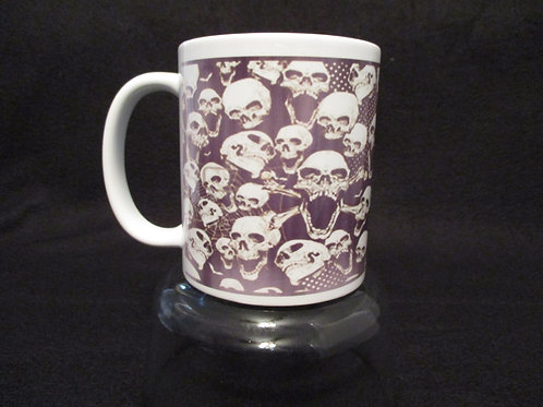 #107 skull mug