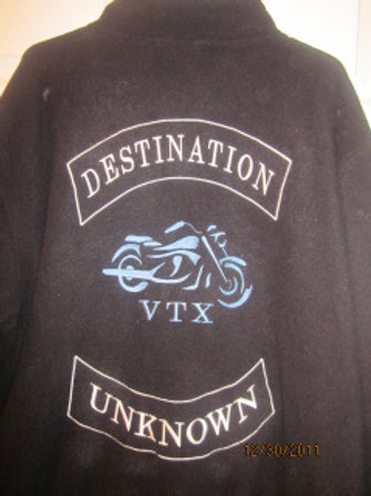 DESTINATION UNKNOWN JACKETS EMBROIDERY