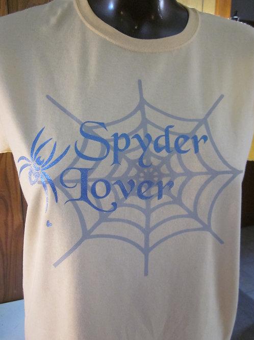 #11 gals spyder lover/heart spider tee