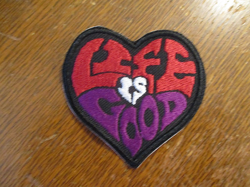 live is good heart patch