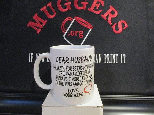 #908 Dear husband...come find you mug