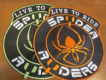 Live to Ride patch spyder