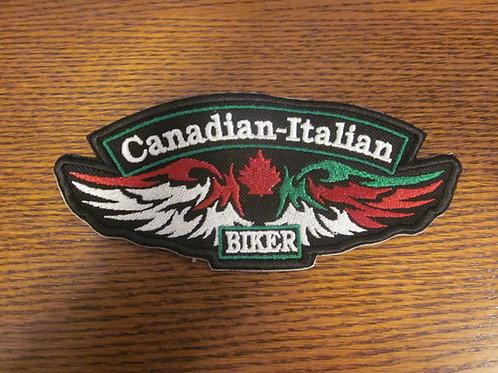 Cdn Italian winged flag patch