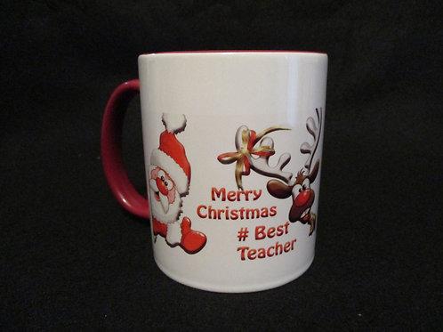 #51 Merry Christmas #best teacher mug