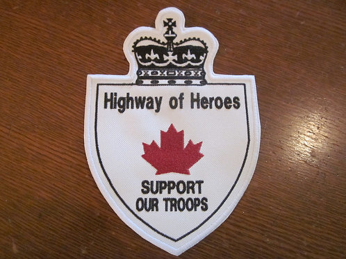 Hwy of heros patch 7.5 x 5""