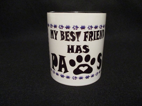 #57 My best friend has paws mug