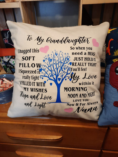 #15 Granddaughter pillow