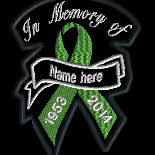 In memory of ribbon patch