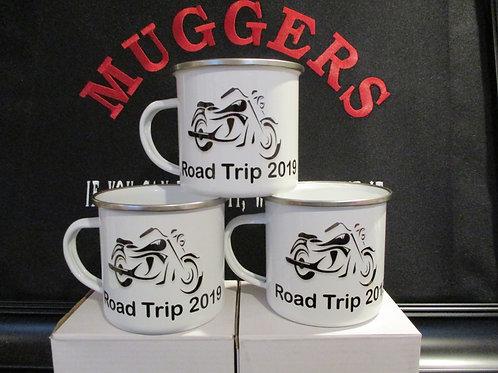 #929 biker Road trip tin mug