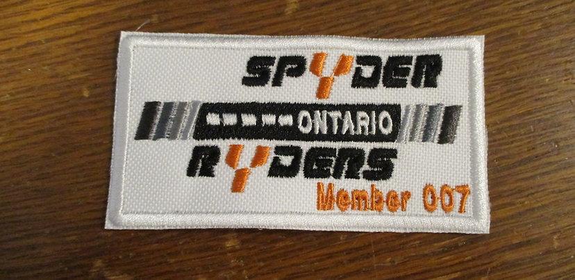 # 800 Ontario Spyder Ryders logo with member #
