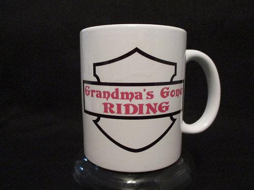 #108 Grandma's gone riding mug