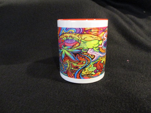 #283 floral water color mug