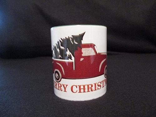 #45 retro Truck with xmas tree mug