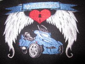 "spyder angels patch with bike 5 x 4"""
