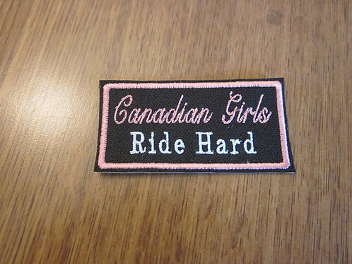 CANADIAN GIRLS RIDE HARD  PATCH