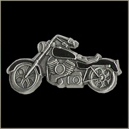 motorcycle with black inlay pin