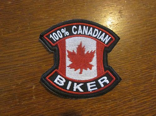 100 % CANADIAN BIKER PATCH
