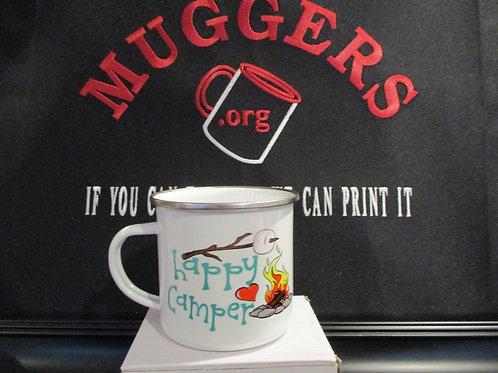 #923 Happy Camper tin mug
