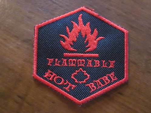 FLAMABLE HOT BABE PATCH