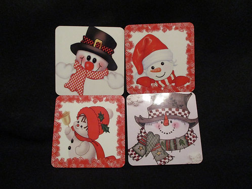 #140 snowman coaster set
