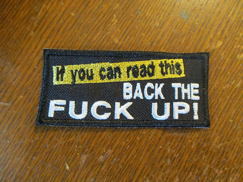 If you can read this BACK UP patch