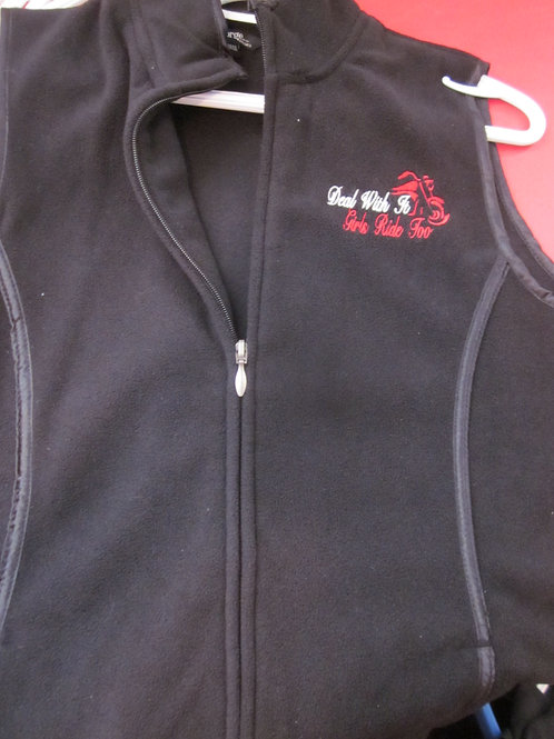 DEAL WITH IT...GIRLS RIDE TOO VEST... SALE SHIRT