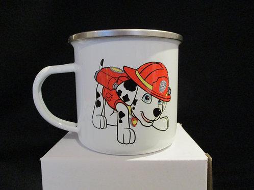 #1037 paws tin mug