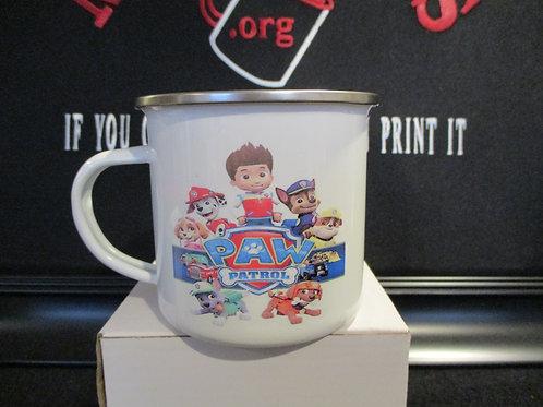 #925 paw patrol tin mug