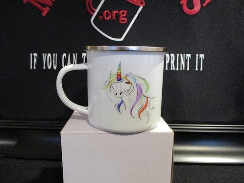 #1030 unicorn tin mug