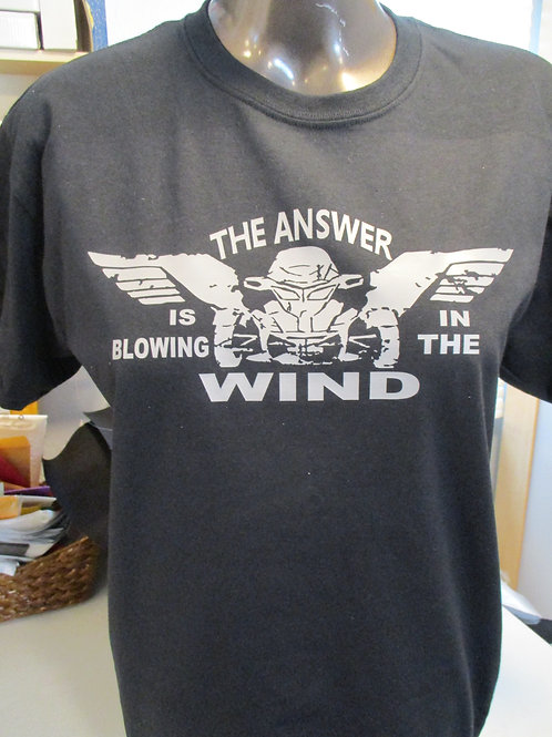 THE ANSWER IS BLOWING IN THE WIND T SHIRT .... SALE SHIRT