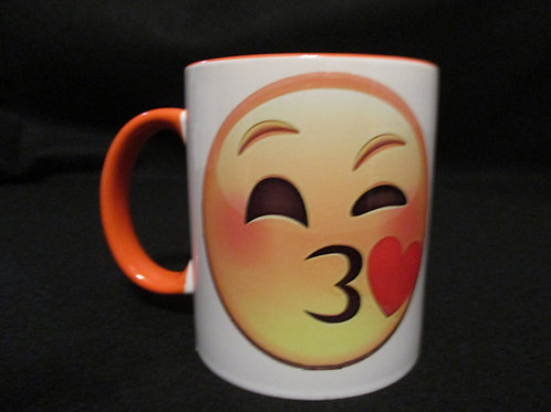 #13 kissing emoji mug