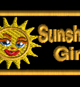sunshine girl patch